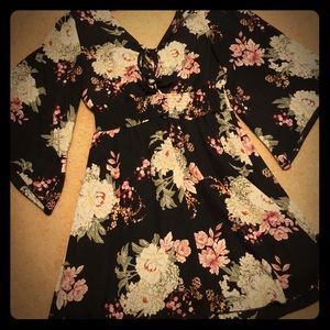 Maurices Floral Longer Sleeve Dress